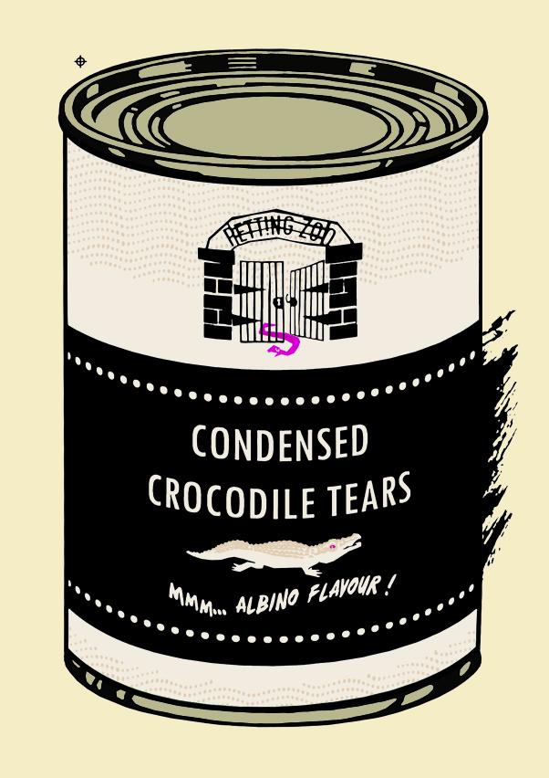 Crocodile tears Warhol rip. Screenprinted artprint - limited edition