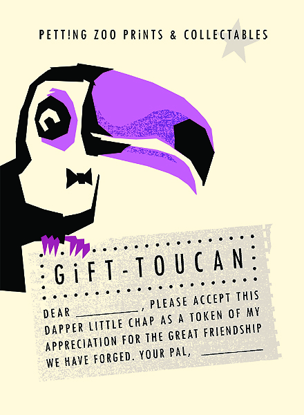Petting Zoo Prints & Collectables Gift Toucan artprint - Screenprint, Open Edition
