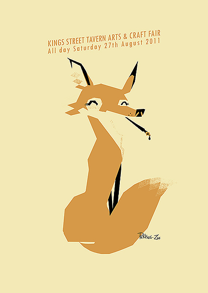 Screenprinted poster for the King Street Tavern Art Fair this August - by Petting Zoo Prints & Collectables