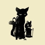 petting zoo's cat and mouse nemesis print