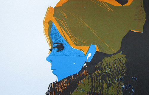 Detail of a screenprint for Esben And The Witch's recent Brighton gig