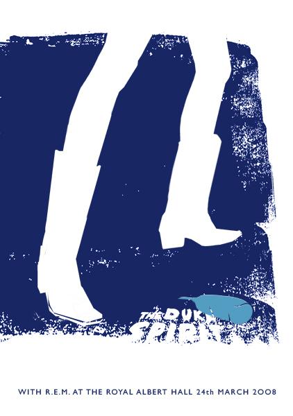 2008 show poster -The Duke Spirit / R.E.M - Albert Hall