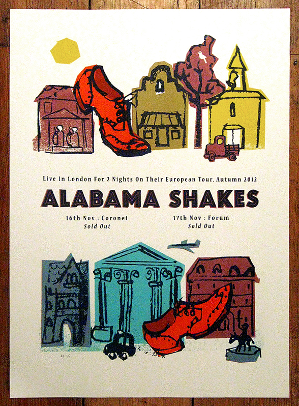 petting zoo poster for Alabama shakes - london concert memorabilia