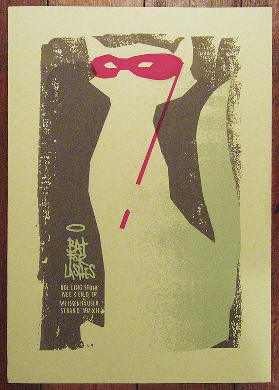 rolling stone weekender poster for Brighton's Bat For Lashes, by petting zoo prints and collectables