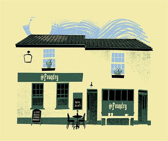 Petting Zoo print of The Foundry (Brighton Pub)