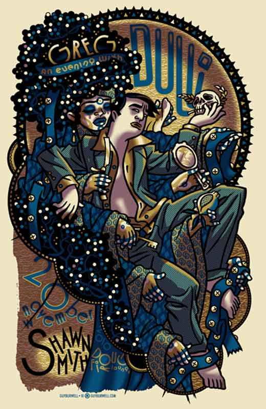 Greg Dulli gigposter by Guy Burwell