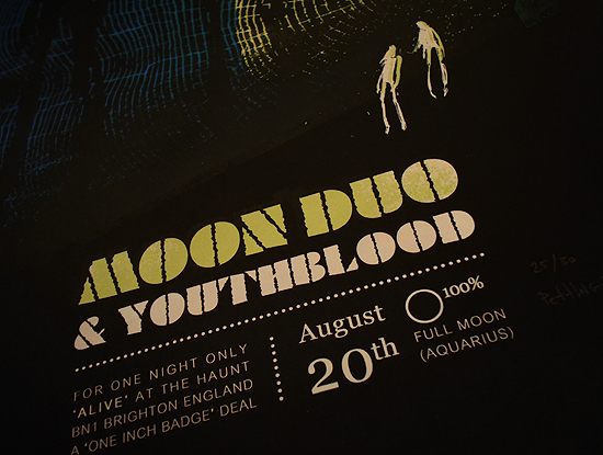 Moon duo : The Haunt, Brighton : Petting Zoo poster