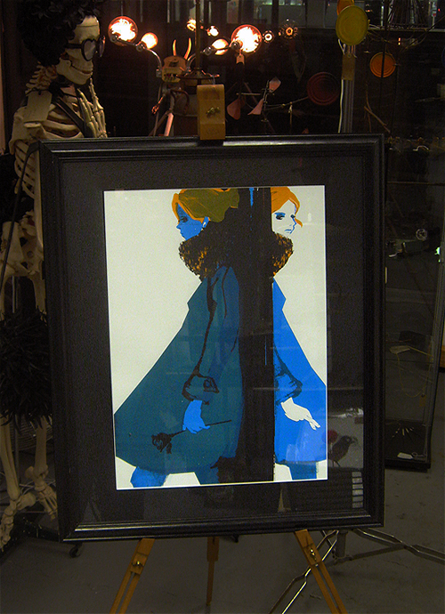 Framed art print - serigraph - knowledge shop art raffle