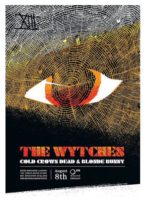 the wytches gigposter GDS Brighton
