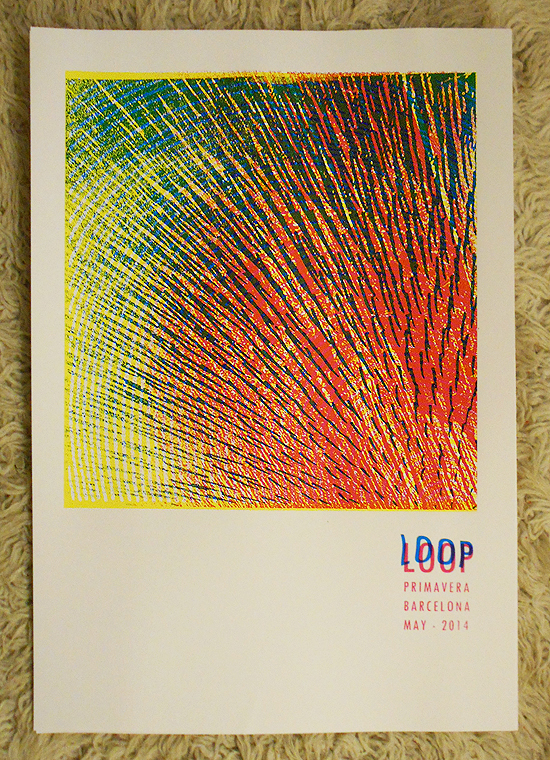 psychedelic gigposter for LOOP by Petting Zoo Prints & Collectables - Primavera Spain