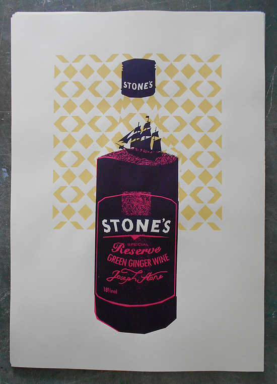 stones ginger wine art print by petting zoo
