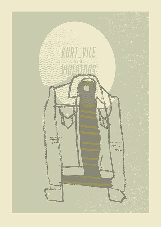 kurt vile screenprint by petting zoo prints & collectables - Brighton England