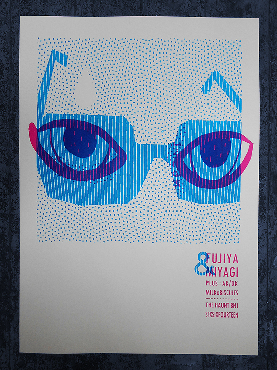 poster for fujiya & Miyagi and AK/DK by Petting Zoo prints & Collectables
